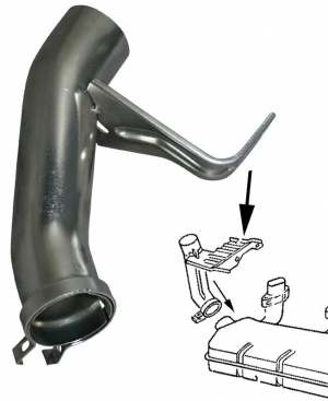 Heat Exchanger Elbow - Right - Type 4 Engines