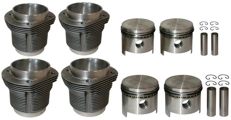 1300cc Barrel And Piston Kit - 77mm Bore Type 1 Engines - Mahle Cast Pistons