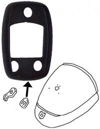 Beetle Deck Lid Lock Seal - 1964-71 (Also Splitscreen Bus Engine Lid Lock Seal - 1966-67)
