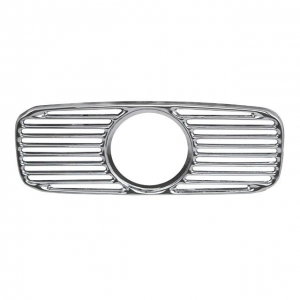 Beetle Radio Speaker Chrome Grill With Hole For Clock - 1953-57 (Oval Window Beetle)