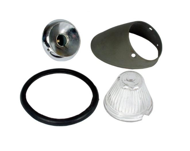 Beetle Bullet Indicator Unit - Left - Clear Lens - 1955-57 (Oval Window Beetle)