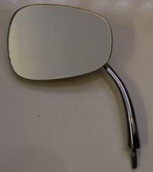 Beetle FLAT 4 Oval Hinge Pin Mirror - Left - 1950-67