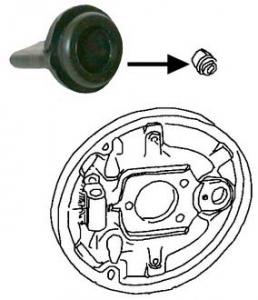 Brake Drum Backing Plate Plug