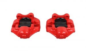 Beetle Front Brake Caliper Set - TRW - Red Powder Coated