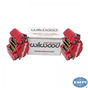 Beetle Front Wilwood Brake Caliper Set - Red