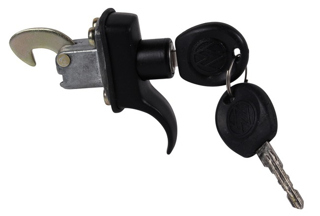 Beetle Deck Lid Lock - 1966-71 (Also Splitscreen Bus Engine Lid Lock - 1967 Only) - Black