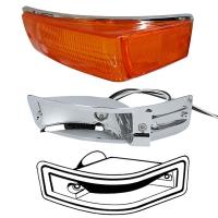 Karmann Ghia Amber Indicator Lens, Bulb Holder And Seal Bundle Kit - 1970-74 - Left