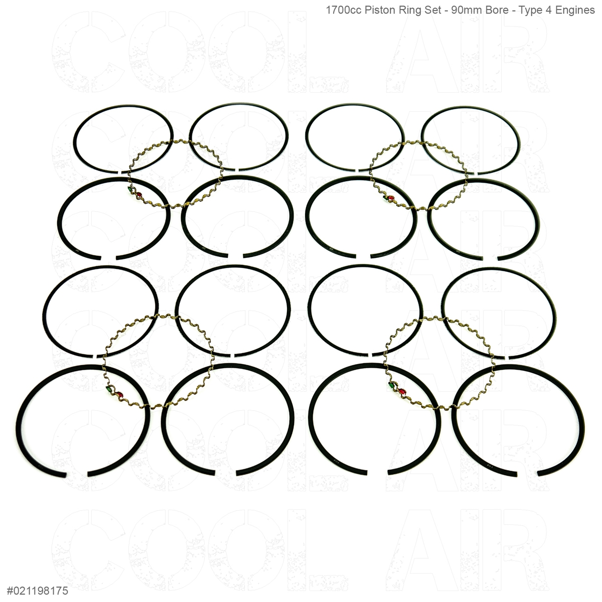 1700cc Piston Ring Set - 90mm Bore - Type 4 Engines