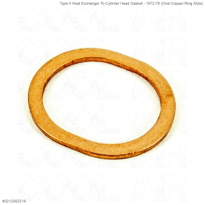 Type 4 Heat Exchanger To Cylinder Head Gasket - 1972-78 (Oval Copper Ring Style)