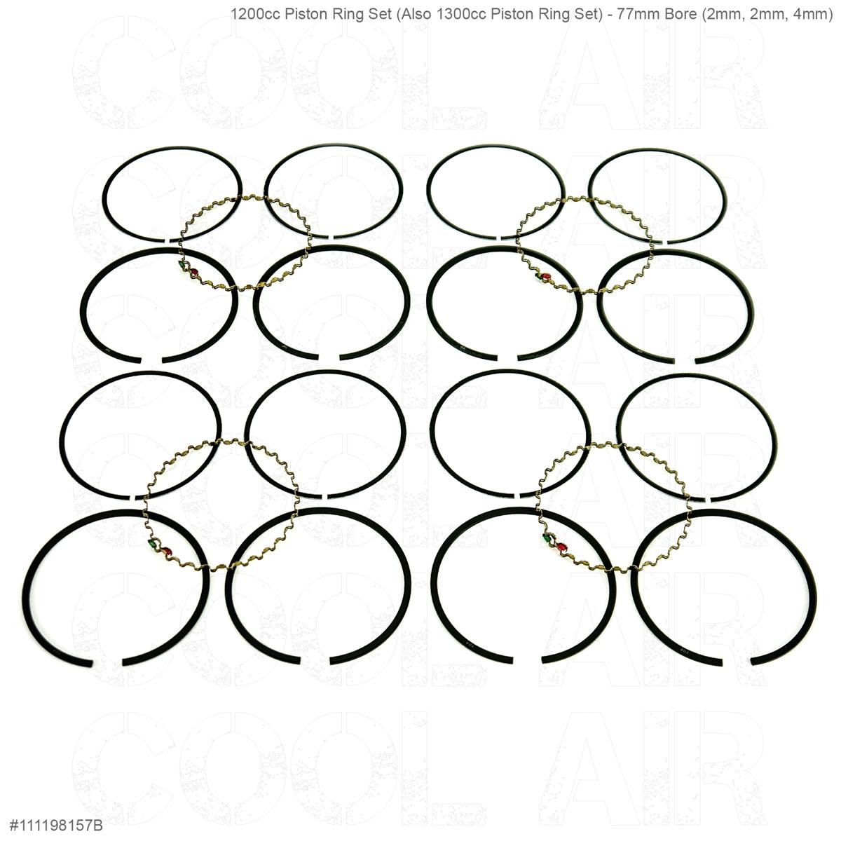 1200cc Piston Ring Set (Also 1300cc Piston Ring Set) - 77mm Bore (2mm, 2mm, 4mm)