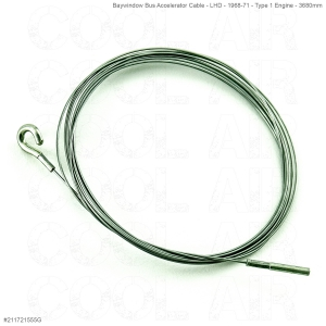 Baywindow Bus Accelerator Cable - LHD - 1968-71 - Type 1 Engine - 3680mm - Top Quality