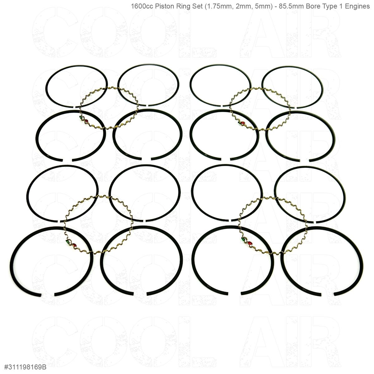 1600cc Piston Ring Set (1.75mm, 2mm, 5mm) - 85.5mm Bore Type 1 Engines