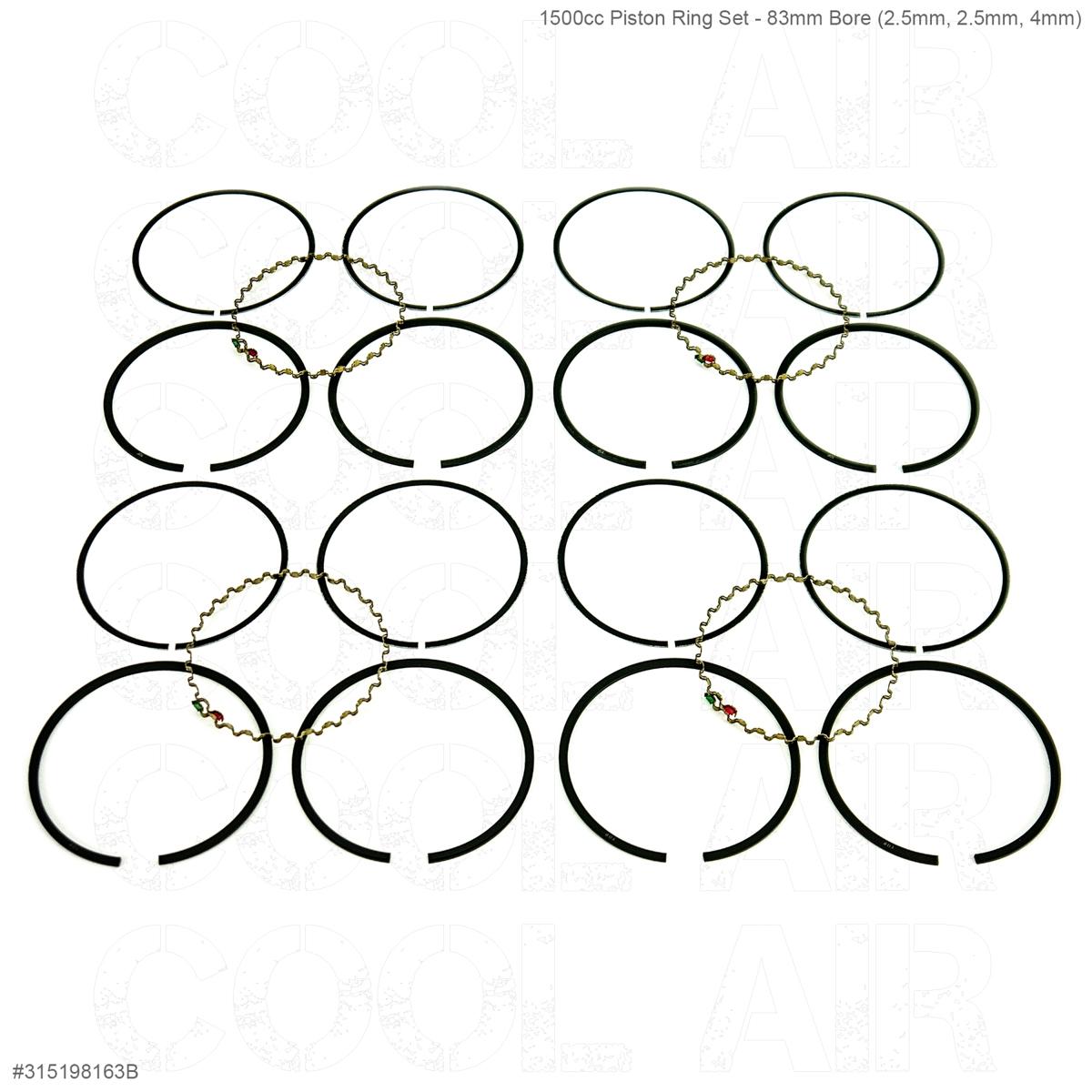 1500cc Piston Ring Set - 83mm Bore (2.5mm, 2.5mm, 4mm)