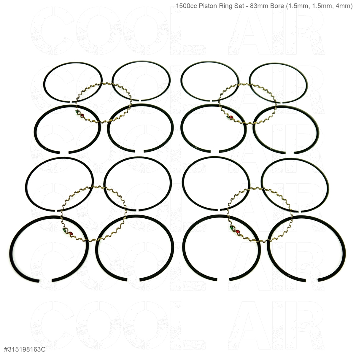 1500cc Piston Ring Set - 83mm Bore (1.5mm, 1.5mm, 4mm)