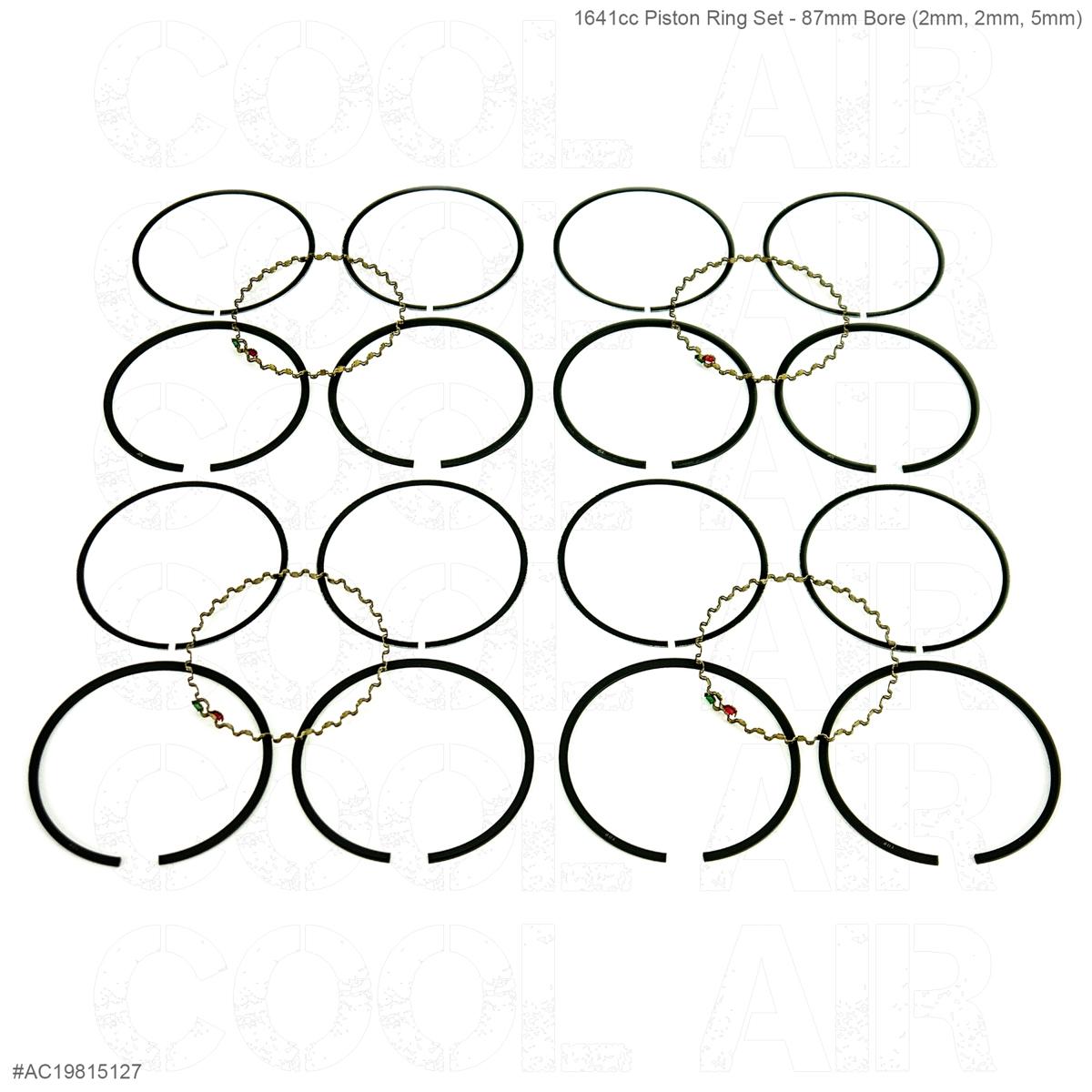 1641cc Piston Ring Set - 87mm Bore (2mm, 2mm, 5mm)