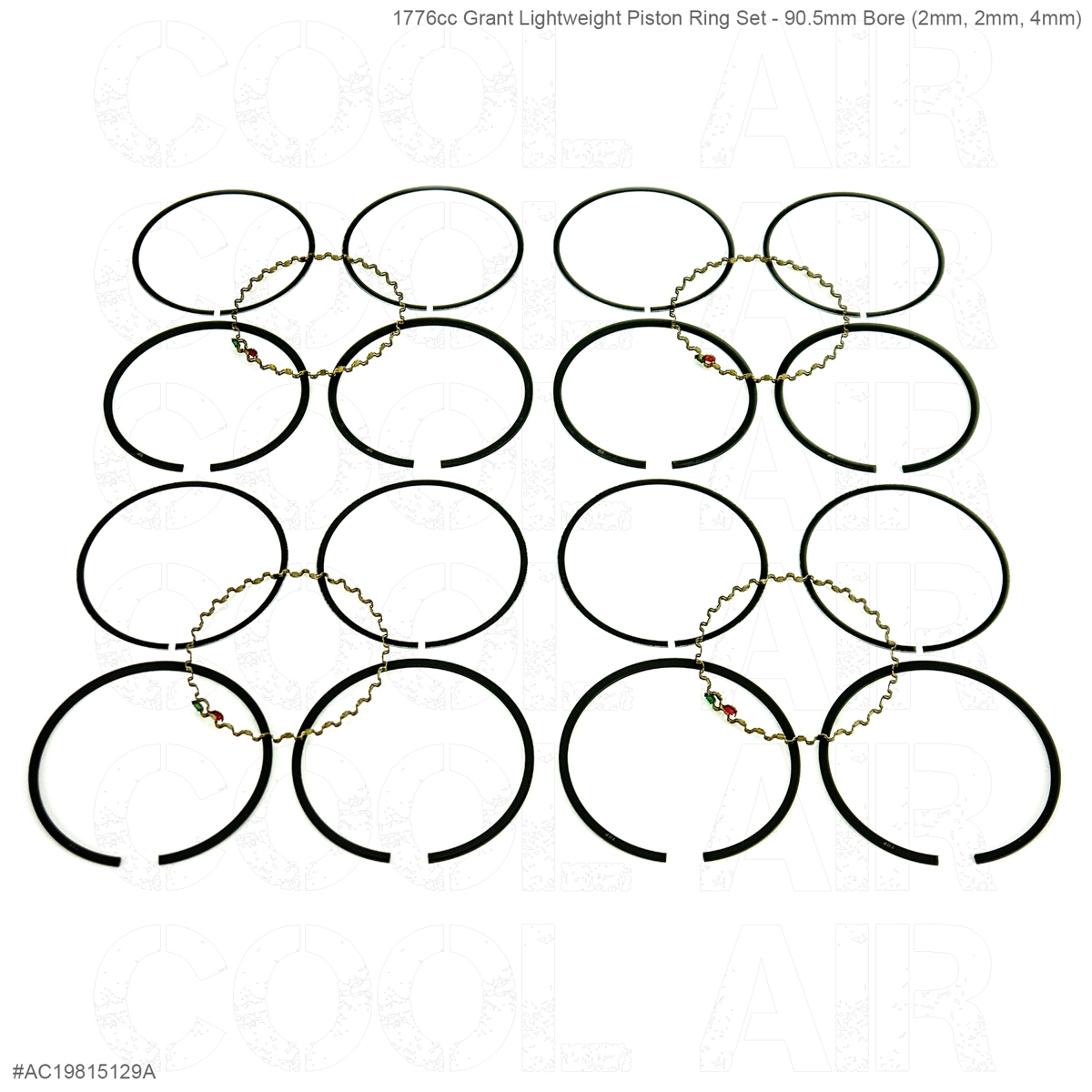 1776cc Grant Lightweight Piston Ring Set - 90.5mm Bore (2mm, 2mm, 4mm)