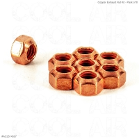 Copper Exhaust Nut Kit - Pack of 8