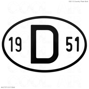 1951 D Country Plate