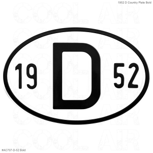 1952 D Country Plate