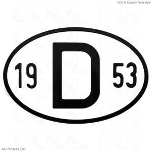 1953 D Country Plate