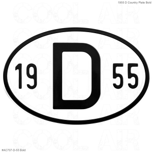 1955 D Country Plate