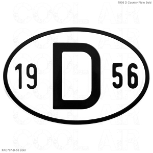 1956 D Country Plate