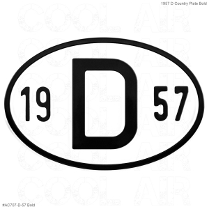 1957 D Country Plate