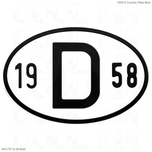 1958 D Country Plate