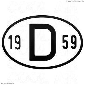 1959 D Country Plate