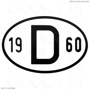 1960 D Country Plate