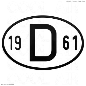 1961 D Country Plate