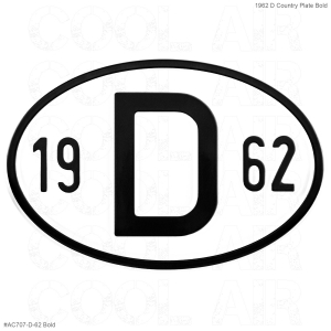 1962 D Country Plate