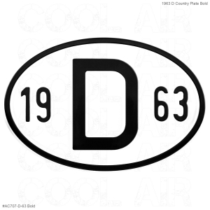 1963 D Country Plate