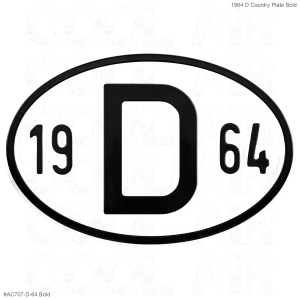1964 D Country Plate