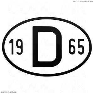 1965 D Country Plate