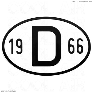 1966 D Country Plate