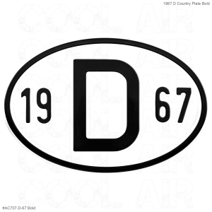 1967 D Country Plate