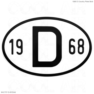 1968 D Country Plate