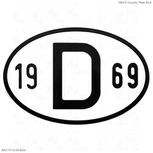 1969 D Country Plate