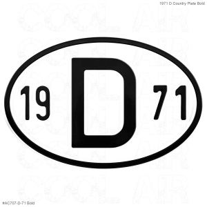 1971 D Country Plate