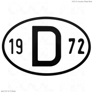 1972 D Country Plate