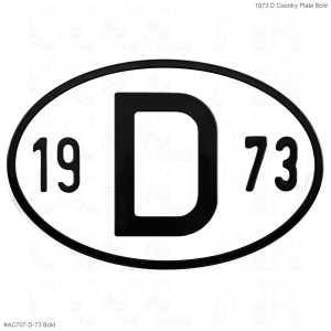 1973 D Country Plate