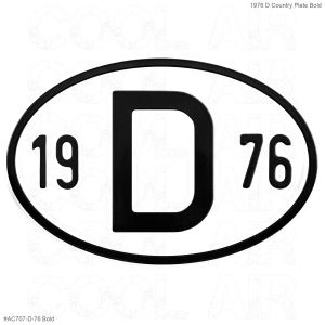 1976 D Country Plate