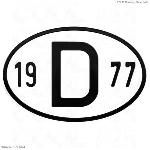 1977 D Country Plate