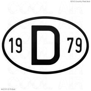 1979 D Country Plate
