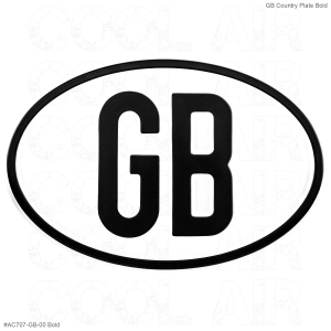 Plain GB Country Plate