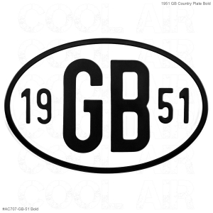 1951 GB Country Plate