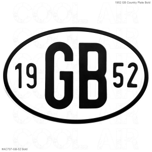 1952 GB Country Plate