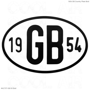 1954 GB Country Plate