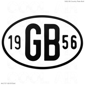 1956 GB Country Plate